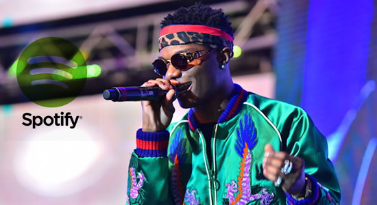 Wizkid Becomes First African Artist To Hit 8 million Monthly Listeners On Spotify