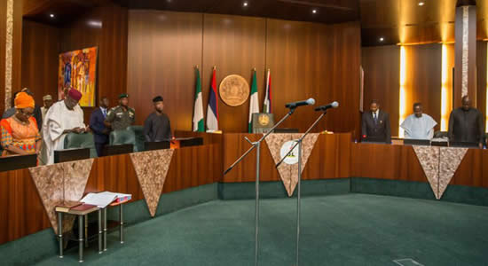 President Buhari Swears In Four New Permanent Secretaries