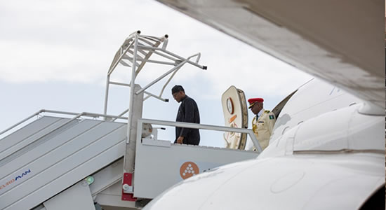 Buhari Returns to Abuja From Egypt, To Tackle Terrorism With Support From Egyptian Government