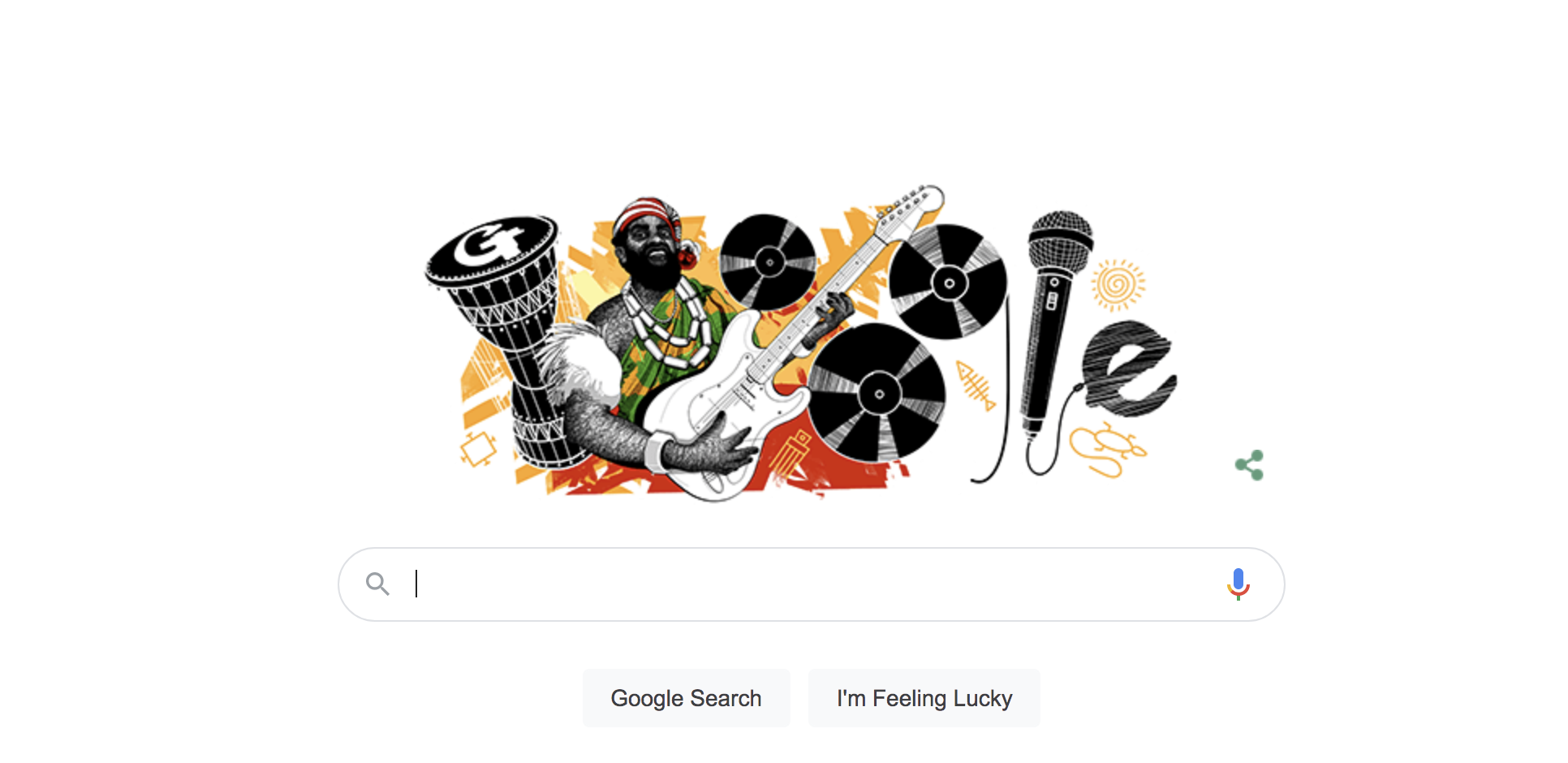 Google Honours Oliver De Coque On His 74th Posthumous Birthday