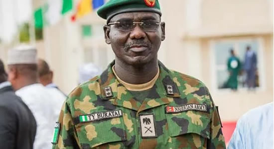 Boko Haram: Buratai Commends Troops Over Marte Success