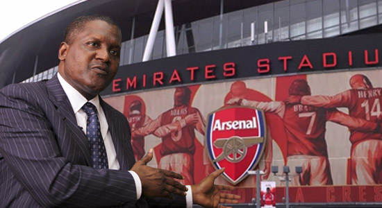 Dangote Restate Plans To Buy Arsenal
